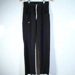 Figs Linvingston Wide Leg Scrub Pants Black XS